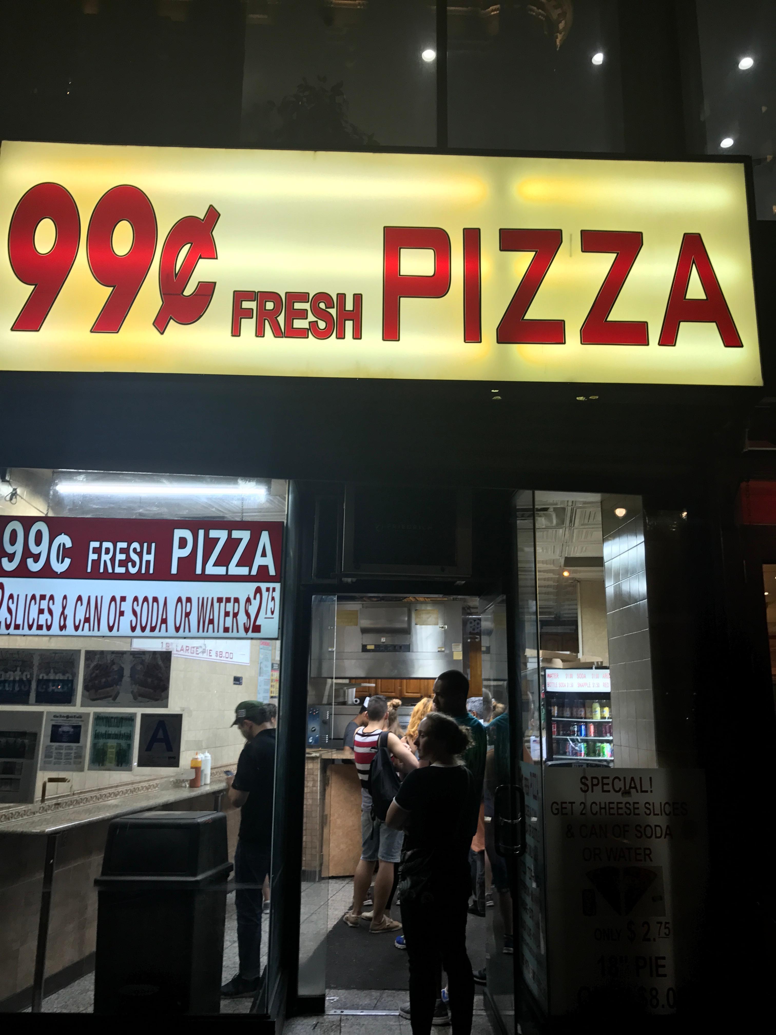 99 Cents Fresh Pizza 1723 Broadway New York NY 10019 USA
